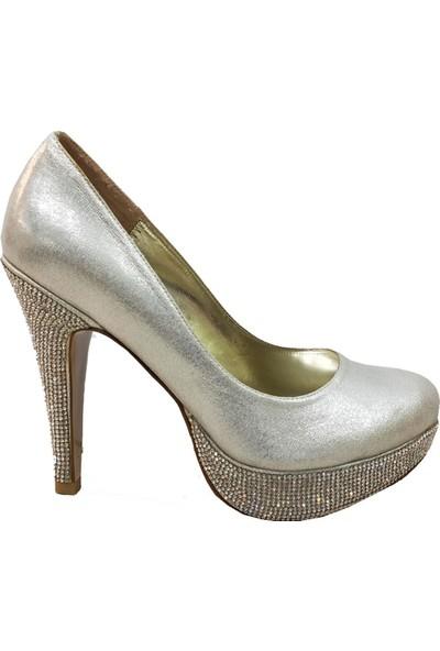 Smilee 3035 Platform Topuklu Kadın Abiye Ayakkabı