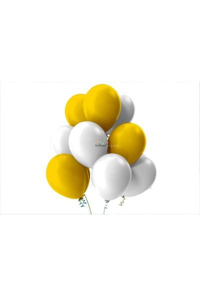 Kullan At Party Altın-Beyaz Pastel Soft Balon