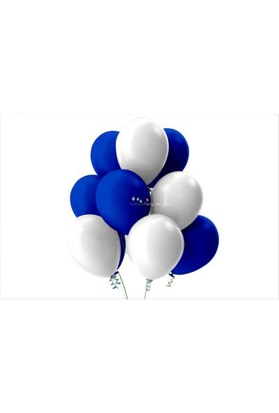 Kullan At Party Beyaz-Koyu Mavi Pastel Soft Balon