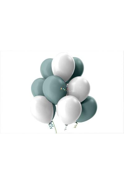Kullan At Party Beyaz-Mint Yeşili Pastel Soft Balon