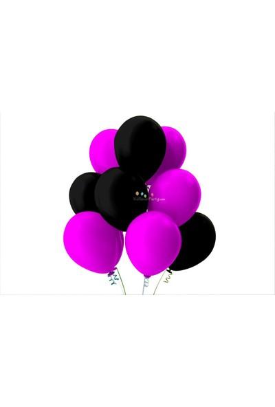 Kullan At Party Fuşya-Siyah Pastel Soft Balon
