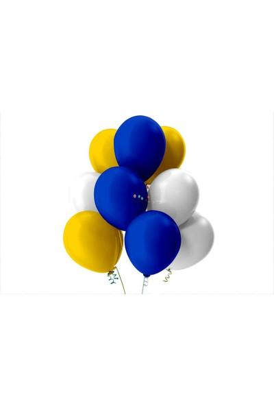 Kullan At Party Altın-Beyaz-Koyu Mavi Pastel Soft Balon