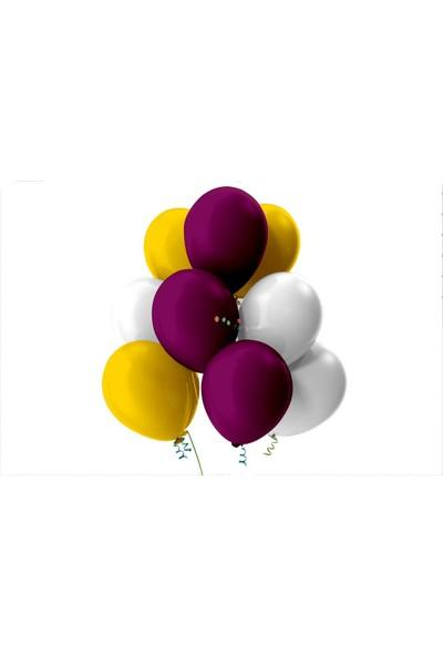 Kullan At Party Altın-Beyaz-Mor Pastel Soft Balon