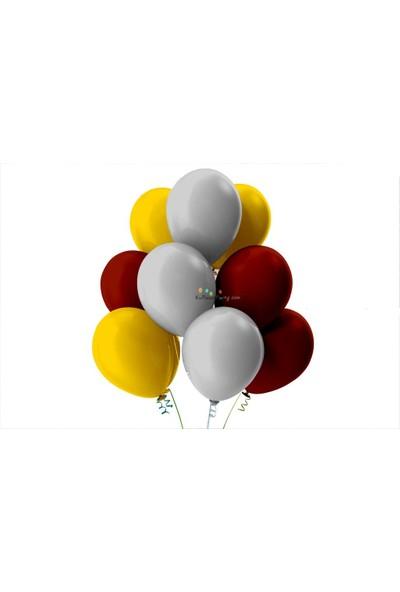 Kullan At Party Altın-Bordo-Gümüş Pastel Soft Balon