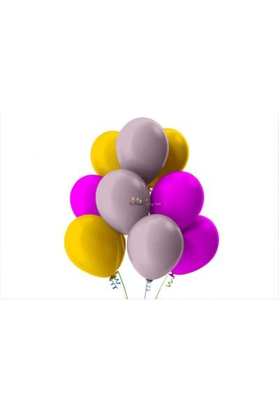Kullan At Party Altın-Fuşya-Lila Pastel Soft Balon