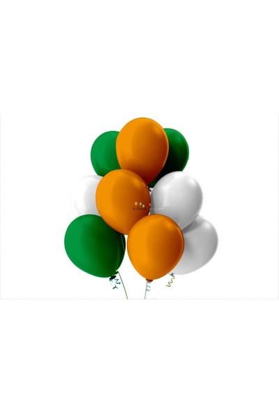 Kullan At Party Açık Yeşil-Beyaz-Turuncu Pastel Soft Balon