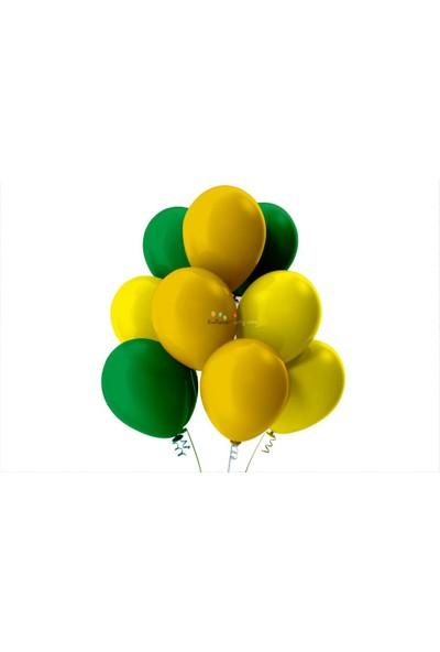 Kullan At Party Açık Yeşil-Altın-Sarı Pastel Soft Balon