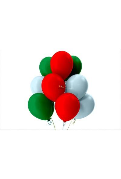 Kullan At Party Açık Yeşil-Bebek Mavisi-Kırmızı Pastel Soft Balon