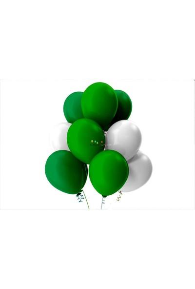 Kullan At Party Açık Yeşil-Beyaz-Koyu Yeşil Pastel Soft Balon