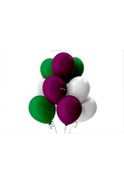 Kullan At Party Açık Yeşil-Beyaz-Mor Pastel Soft Balon