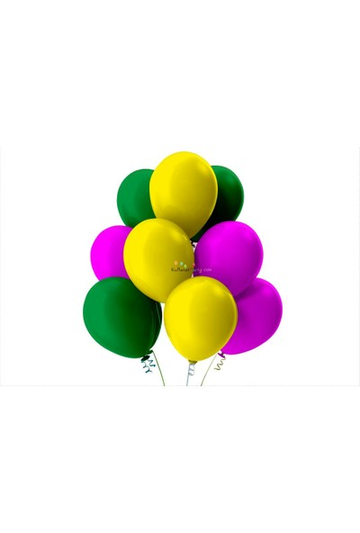 Kullan At Party Açık Yeşil-Fuşya-Sarı Pastel Soft Balon
