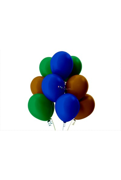 Kullan At Party Açık Yeşil-Kahverengi-Koyu Mavi Pastel Soft Balon