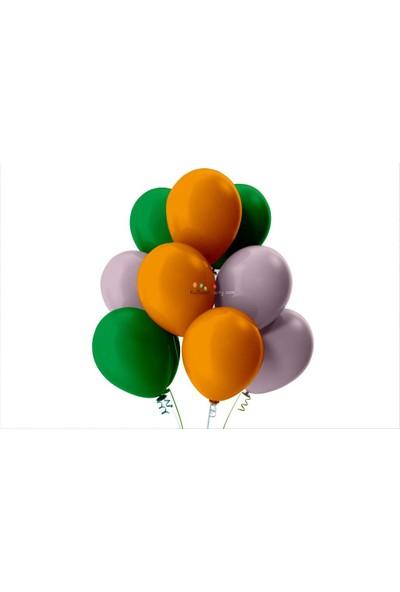 Kullan At Party Açık Yeşil-Lila-Turuncu Pastel Soft Balon