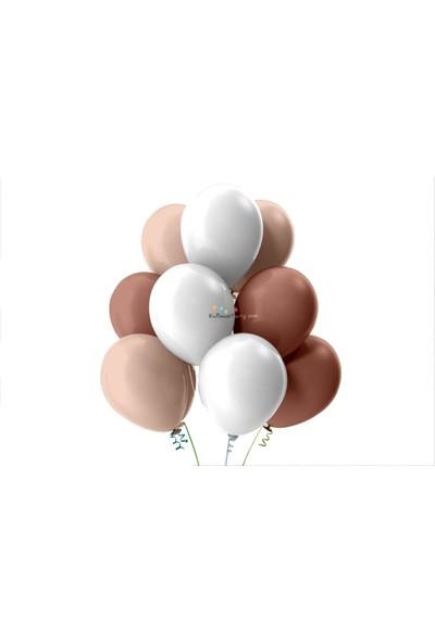 Kullan At Party Bebek Pembesi-Beyaz-Rose Gold Pastel Soft Balon