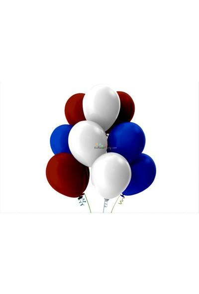 Kullan At Party Beyaz-Bordo-Koyu Mavi Pastel Soft Balon