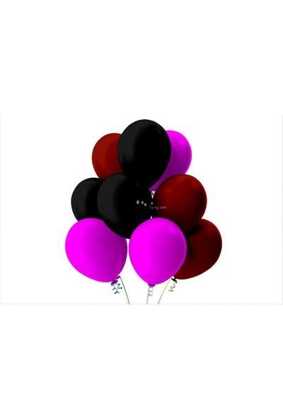Kullan At Party Bordo-Fuşya-Siyah Pastel Soft Balon