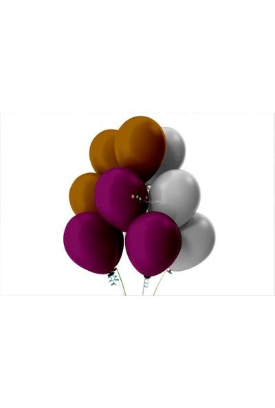 Kullan At Party Gümüş-Kahverengi-Mor Pastel Soft Balon