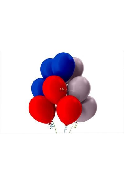 Kullan At Party Kırmızı-Koyu Mavi-Lila Pastel Soft Balon
