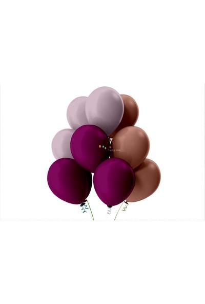Kullan At Party Lila-Koyu Mor-Rose Gold Pastel Soft Balon