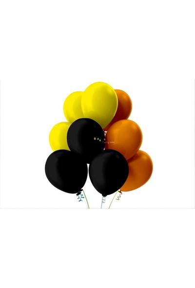 Kullan At Party Sarı-Siyah-Turuncu Pastel Soft Balon