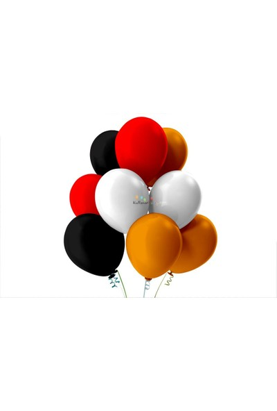 Kullan At Party Siyah-Beyaz-Kırmızı-Turuncu Pastel Soft Balon