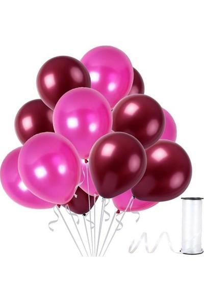 Kullan At Party Bordo-Fuşya Metalik Sedefli Balon