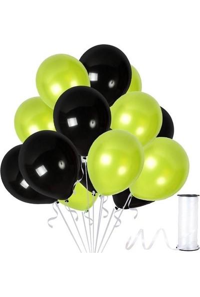 Kullan At Party Fıstık Yeşili-Siyah Metalik Sedefli Balon