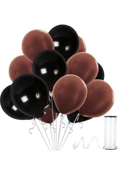 Kullan At Party Kahverengi-Siyah Metalik Sedefli Balon