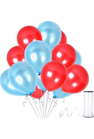 Kullan At Party Kırmızı-Bebek Mavisi Metalik Sedefli Balon