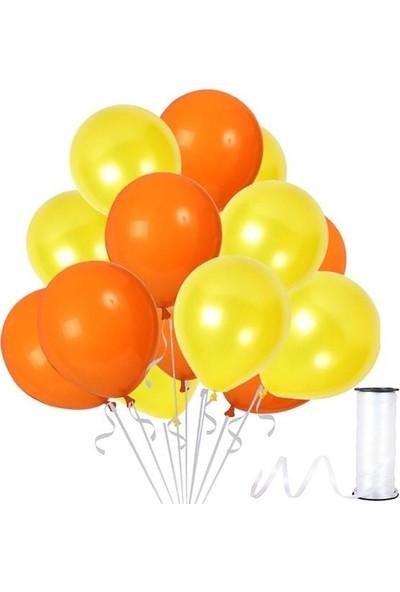 Kullan At Party Sarı-Turuncu Metalik Sedefli Balon