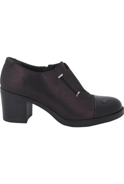 Iloz Mürdüm Topuklu Kadın Ayakkabı 107332