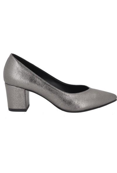 Marcamiss Füme Kadın Stiletto Ayakkabı 7433