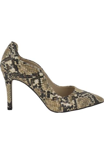 Marcamiss Vizon Kadın Stiletto Ayakkabı 7564