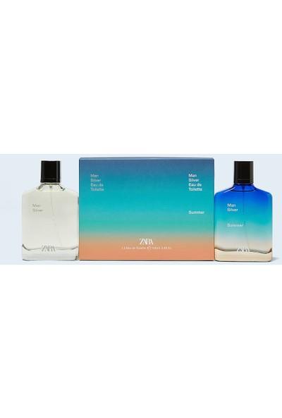 Zara Man Silver + Man Silver Summer Edt 100 ml