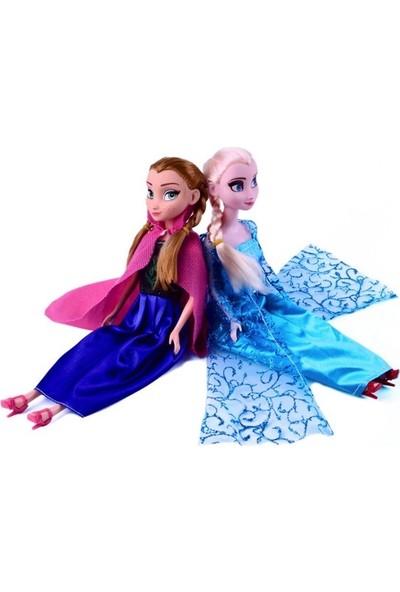 Oyuncakavm Karlar Ülkesi Elsa ve Anna Oyuncak Bebek + Saç + Asa + Taç Set