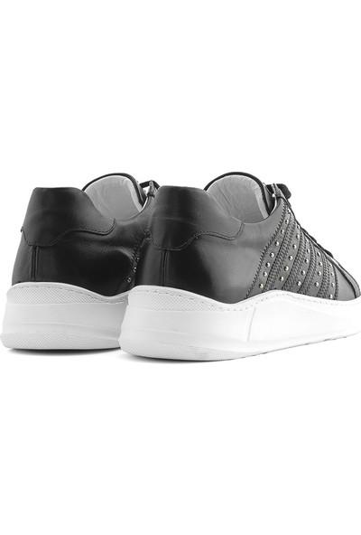 İlvi Teodora Erkek Spor Ayakkabı Siyah Napa