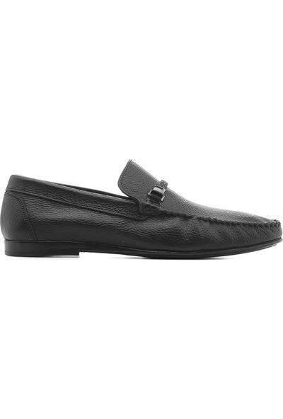 İlvi Kelly Erkek Makosen Ayakkabı Siyah Floter