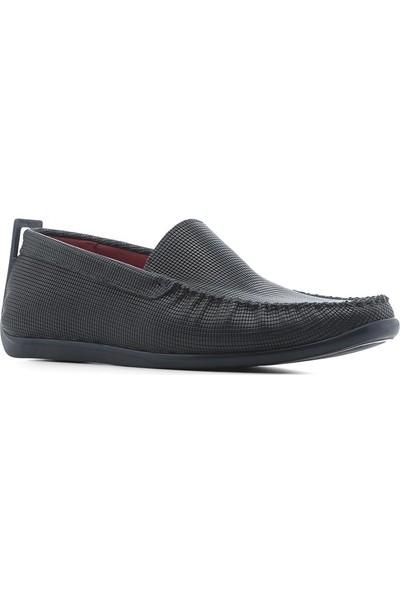 İlvi Ailna Erkek Makosen Ayakkabı Lacivert Deri