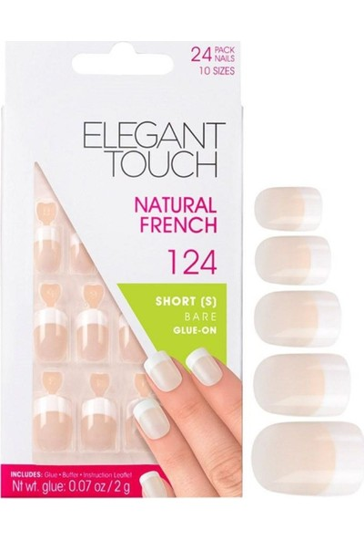 Elegant Touch Takma Tırnak Natural French 126 Pınk