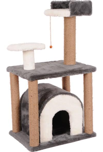 Cat Hause Kedi Tırmalama Evi S1 Gri 105 cm