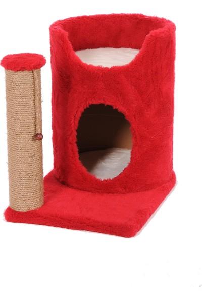 Cat Hause Kedi Tırmalama Platformu S4 Kırmızı 55 cm