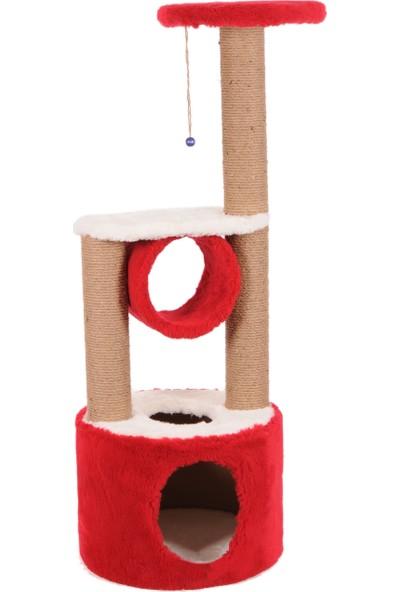 Cat Hause Kedi Tırmalama Platformu S5 Kırmızı 112 cm