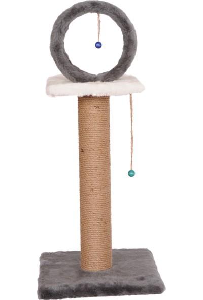 Cat Hause Kedi Tırmalama T6 Çemberli Gri 78 cm