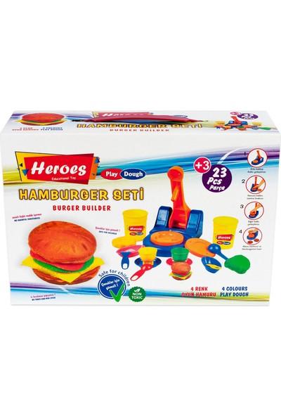 Heroes Hamburger Kalıplı Oyun Hamuru Seti