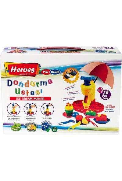 Heroes Dondurma Kalıplı Oyun Hamuru Seti