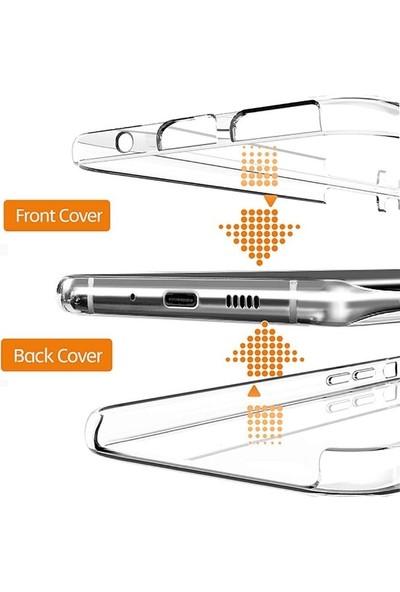 Teleplus Samsung Galaxy Note 10 Lite Kılıf 360 Ön Arka Silikon Şeffaf