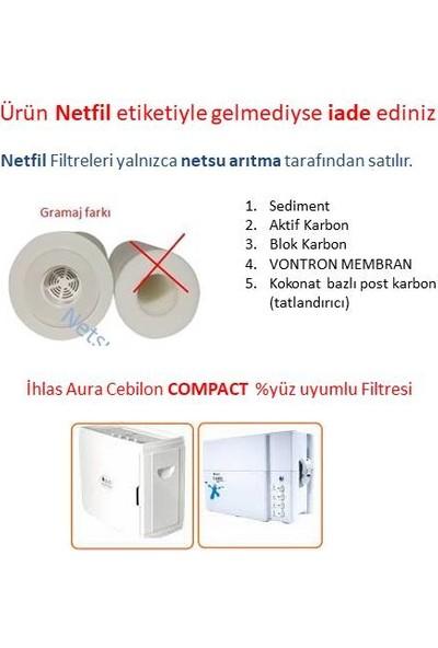 Netsu İhlas Aura Cebilon Compact Su Arıtma Cihazı Filtresi 5'li Filtre Seti