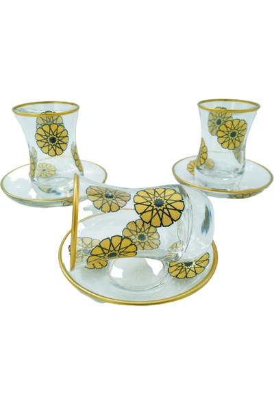Yaren 6 Kişilik Petek Çay Bardağı Takımı