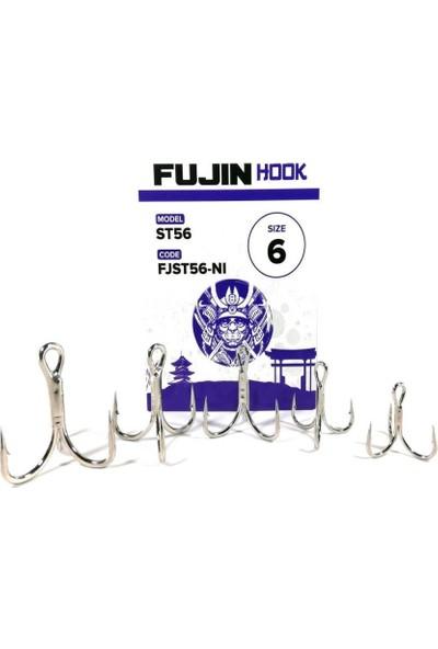 Fujin ST56 #4 Nickel Üçlü Maket Balık Iğnesi