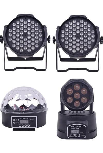 Quenlite Free Paket-4 Sahne Işık Sistemi Seti ( Top Küre Led Par Moving Head Robot)